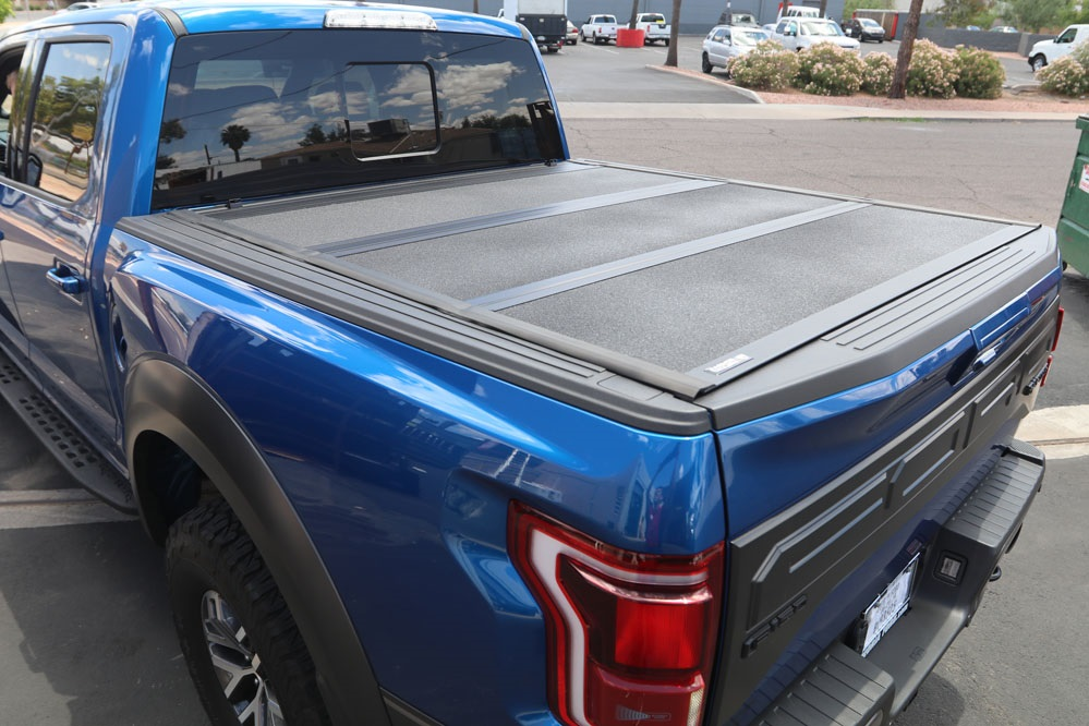 ford raptor hard folding truck bed cover undercover armor flex