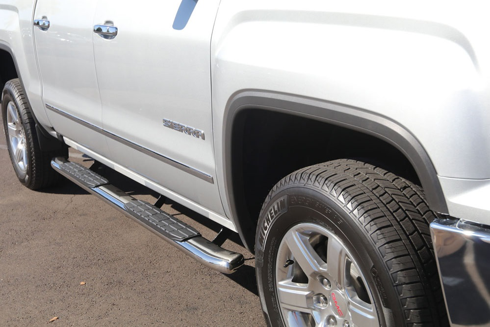 gmc sierra crew cab step rails running boards