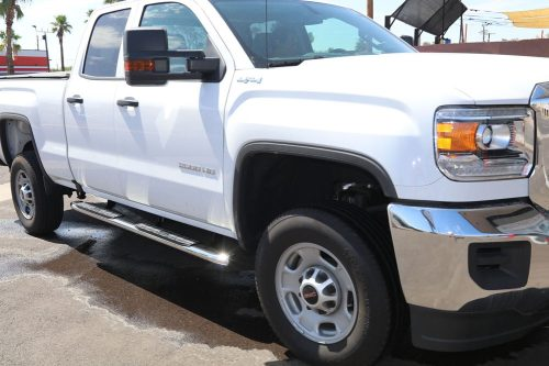 gmc sierra double cab 4 inch oval nerf bars