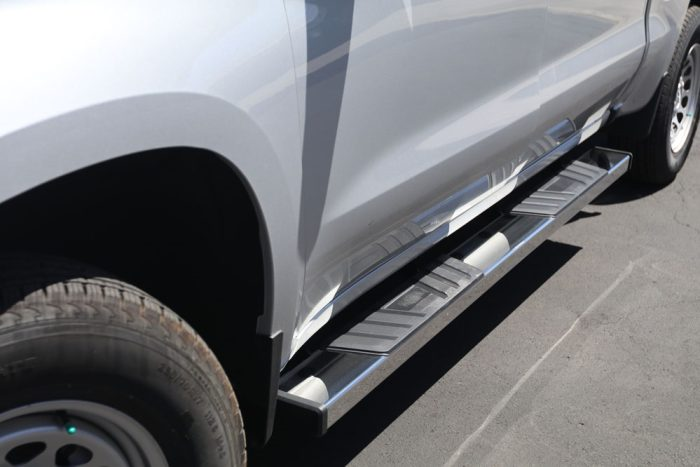 polished stainless steel running boards 6 inch wide