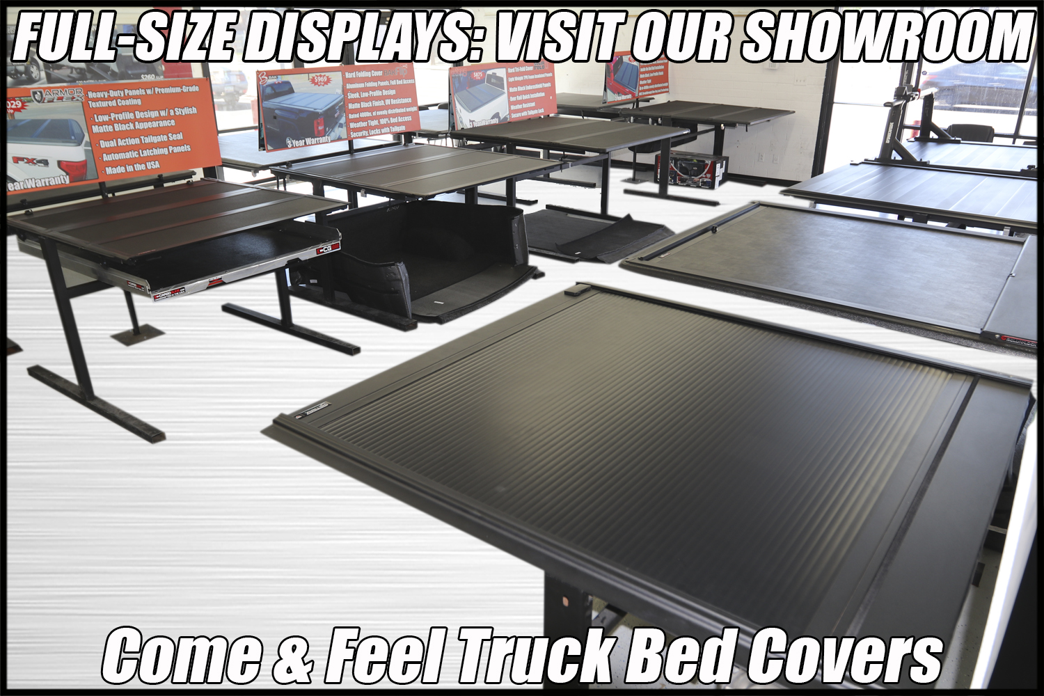 truck bed covers store