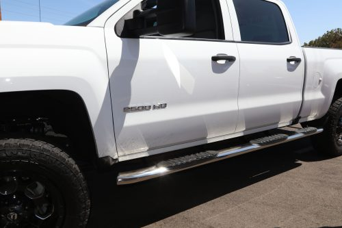 wheel to wheel 5 inch oval nerf bars gm crew cab step boards