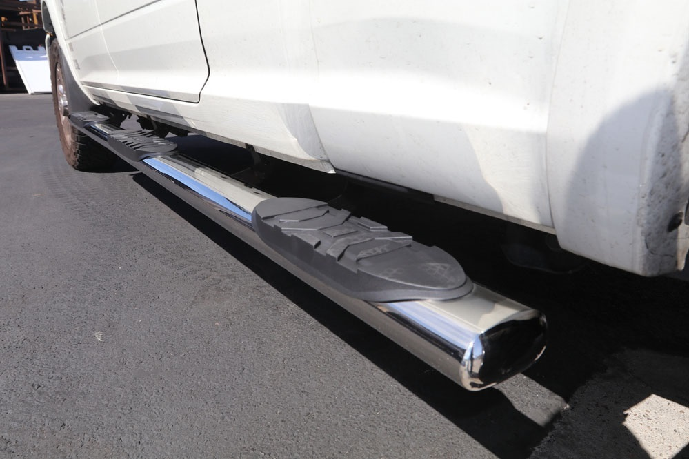 wheel to wheel running boards polished stainless steel