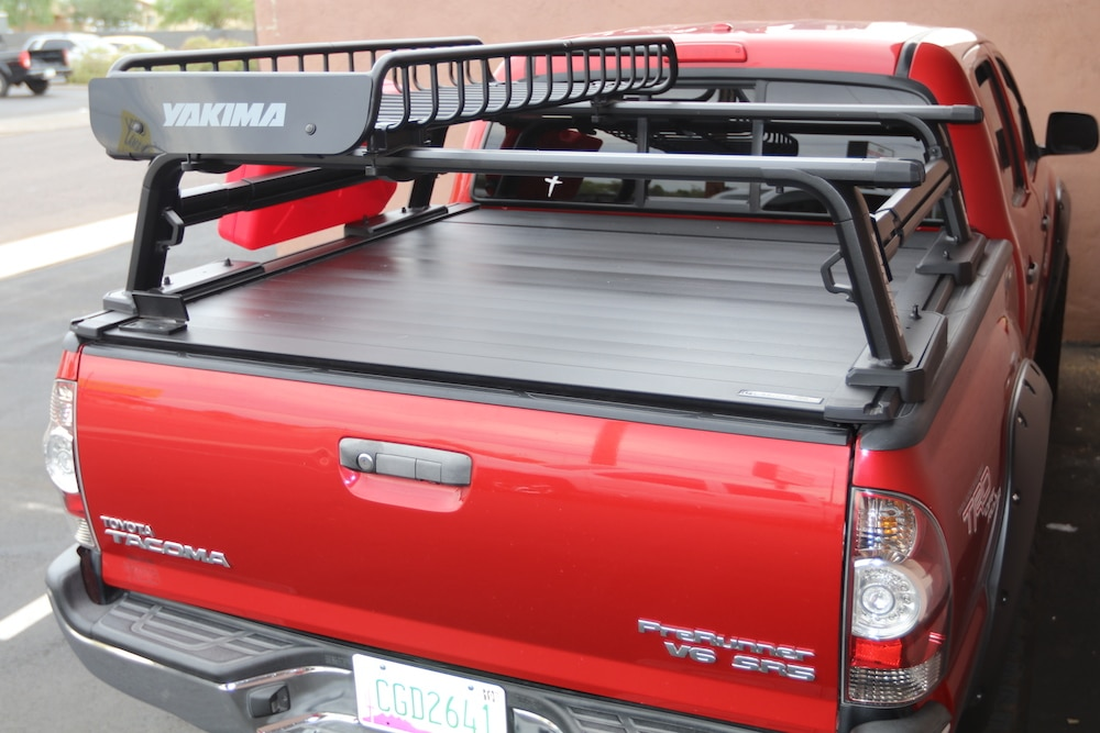 offroad truck bed rack yakima outpost hd tacoma retraxpro xr