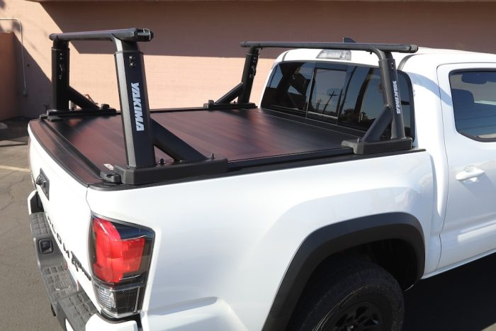 toyota tacoma truck bed racks yakima overhaul hd retraxpro xr cover