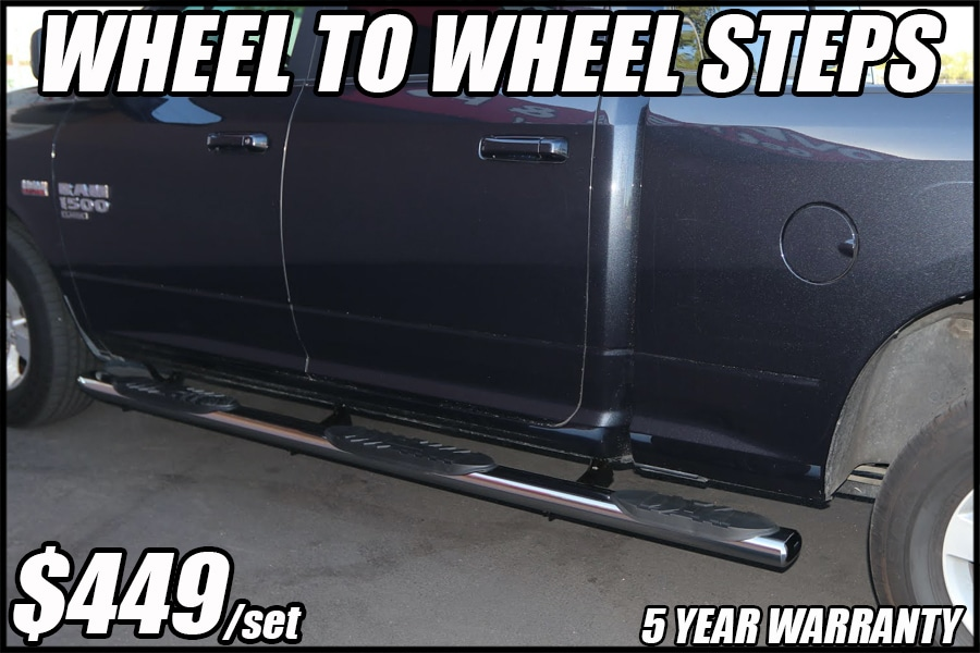 WHEEL TO WHEEL RUNNING BOARDS
