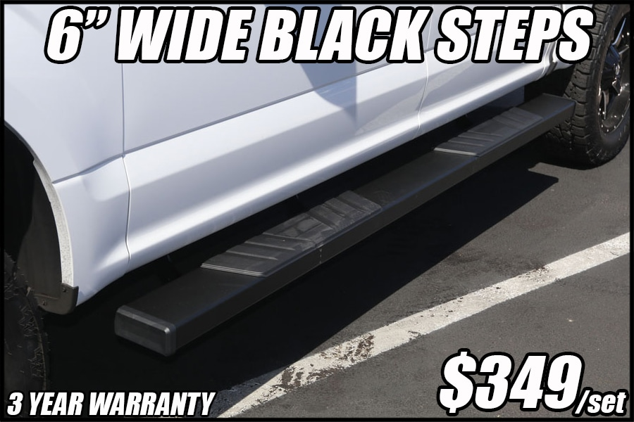 black step boards for trucks