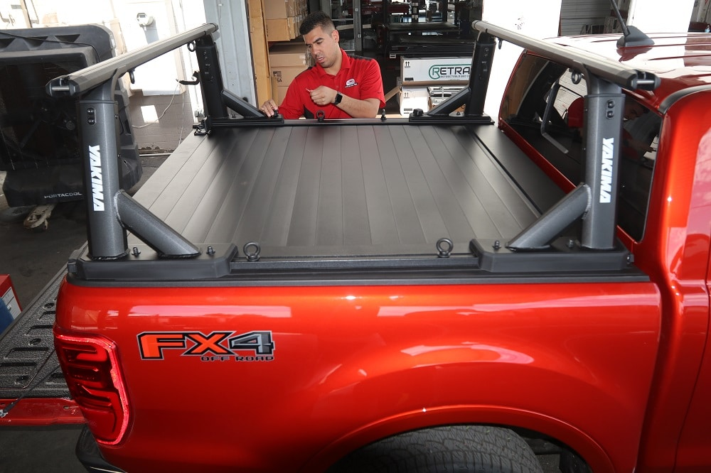 ford ranger retraxpro xr yakima overhaul hd bed rack