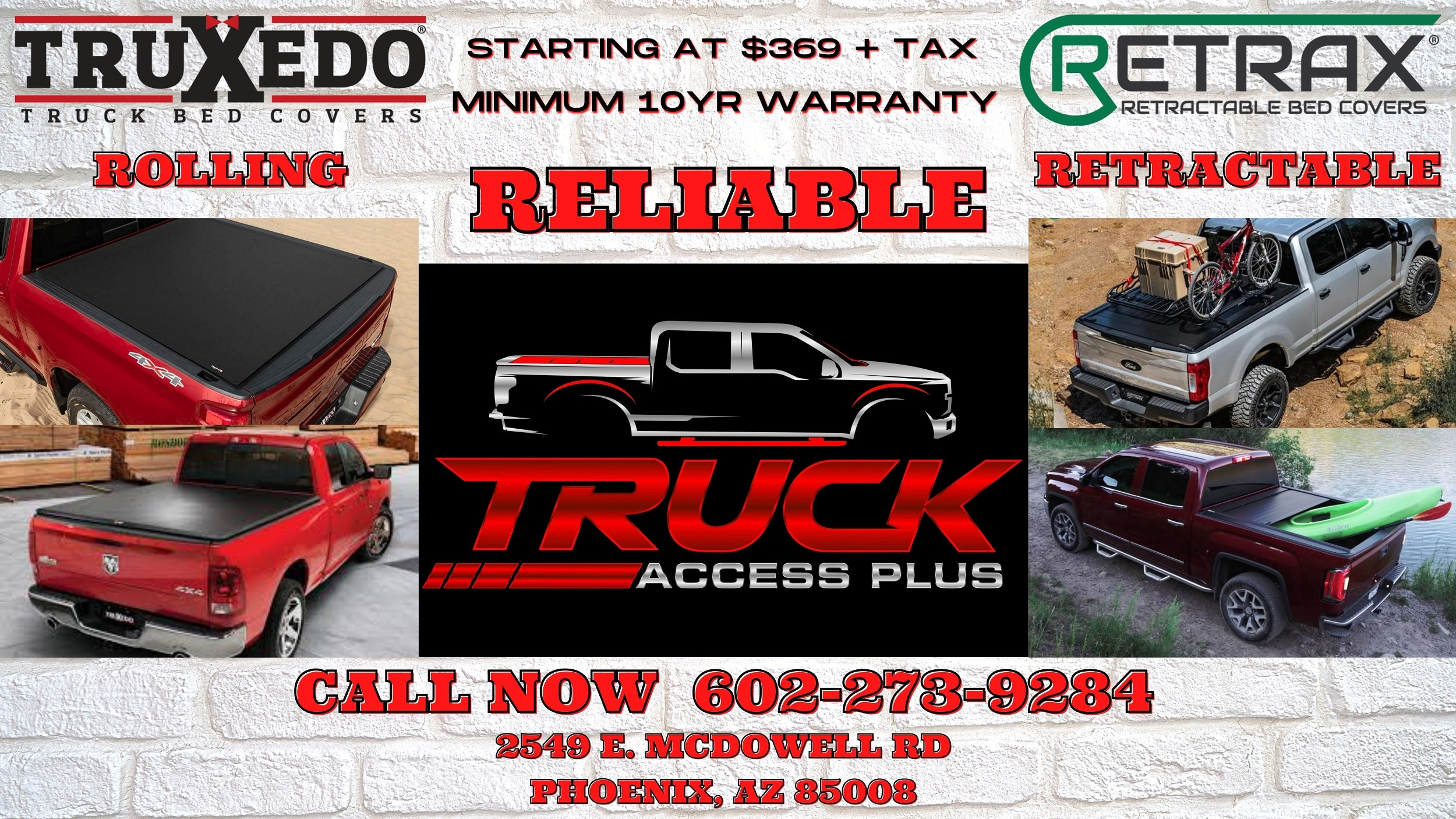 rolling-retractable truck bed covers in arizona
